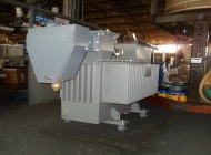 power transformer with LV and HV cable boxes for underground cable