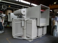 2000kva OTDS transformer with cable box open for inspection
