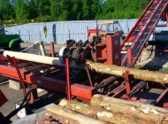 debarking machine for wooden telegraph poles