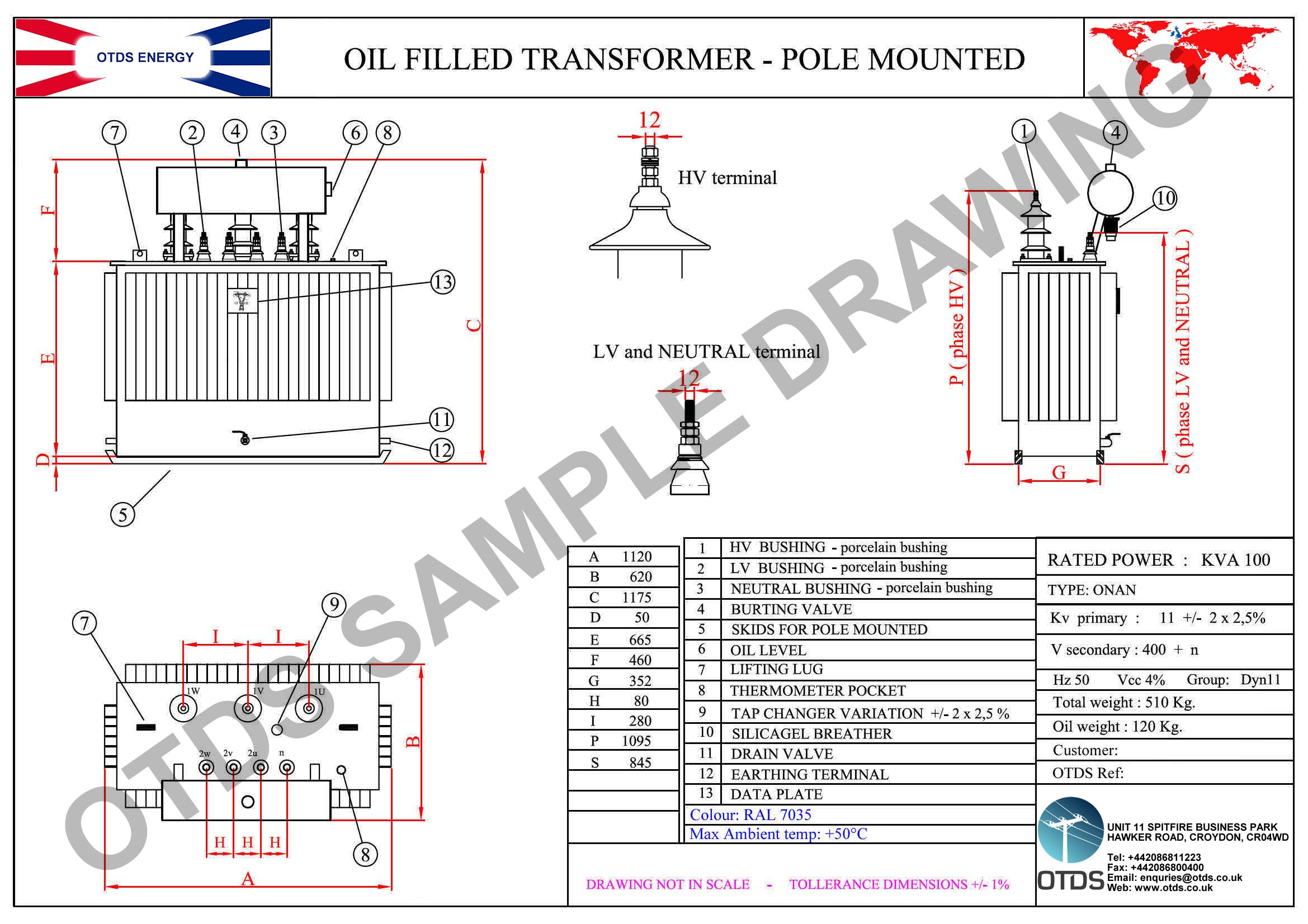 Power Transformer Drawing Transformer · Drawing