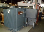 transformer package substation with HV switch and LV connections