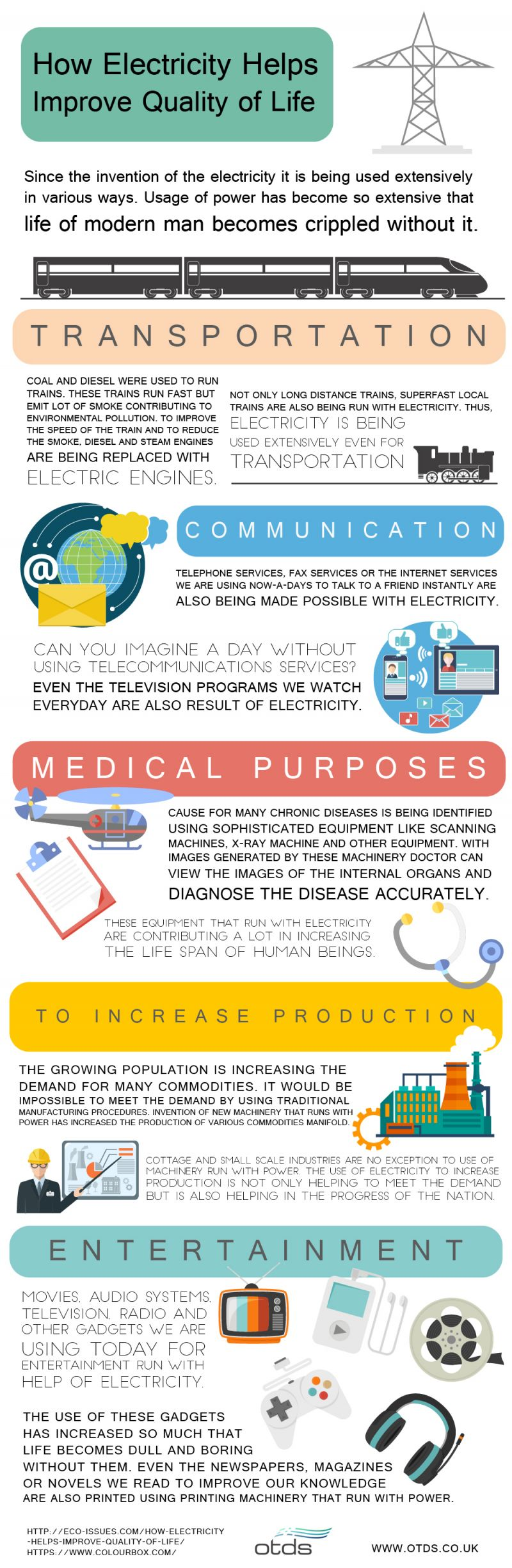 How Electricity Helps to Improve Quality of Life [Infographic]